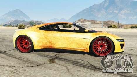 GTA 5 Dinka Jester (Racecar) Fire vue latérale gauche