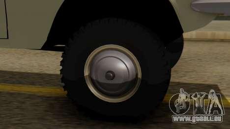 GAZ 24-95 pour GTA San Andreas sur la vue arrière gauche