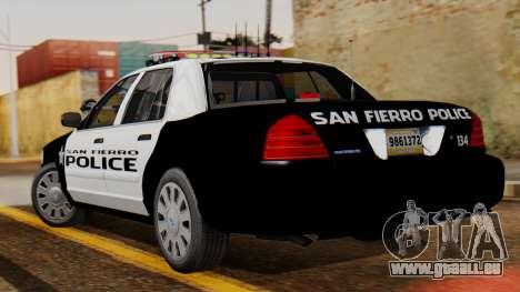 Police SF 2013 pour GTA San Andreas laissé vue