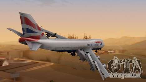 Boeing 747-200 British Airways pour GTA San Andreas laissé vue