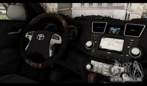 Toyota Highlander 2011 für GTA San Andreas Innen