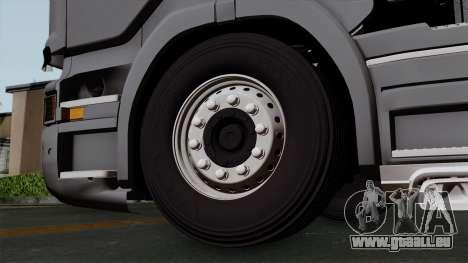 Scania R730 Streamline 4x2 pour GTA San Andreas sur la vue arrière gauche