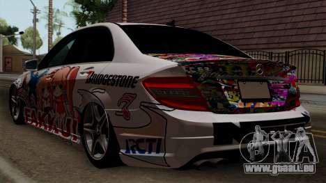 Mercedes-Benz C63 AMG Momoka and Nonoka Itasha pour GTA San Andreas laissé vue