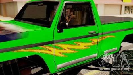 Monster New Texture pour GTA San Andreas sur la vue arrière gauche