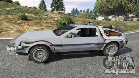 GTA 5 DeLorean DMC-12 Back To The Future v0.2 vue latérale gauche