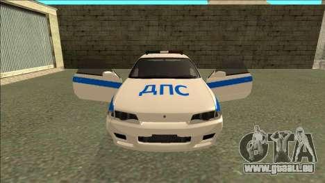 Nissan Skyline R32 Russian Police pour GTA San Andreas roue