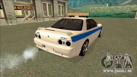 Nissan Skyline R32 Russian Police pour GTA San Andreas vue de côté