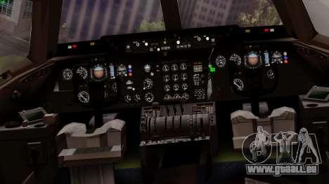 DC-10-30 Swissair pour GTA San Andreas vue intérieure