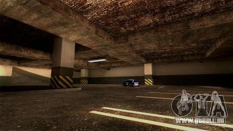 Nouveau LSPD Parking pour GTA San Andreas sixième écran