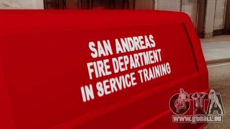 SAFD In Service Training Van für GTA San Andreas rechten Ansicht