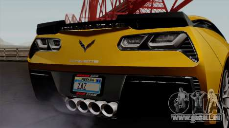 Chevrolet Corvette Z06 1.0.1 pour GTA San Andreas vue intérieure