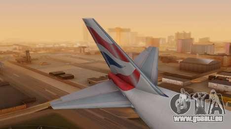Boeing 747-200 British Airways pour GTA San Andreas sur la vue arrière gauche