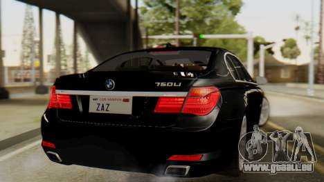 BMW 750Li 2012 pour GTA San Andreas laissé vue