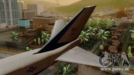 Boeing 747 Air Force One pour GTA San Andreas sur la vue arrière gauche