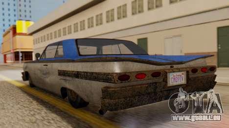 GTA 5 Declasse Voodoo Worn IVF pour GTA San Andreas laissé vue