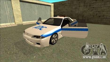 Nissan Skyline R32 Russian Police für GTA San Andreas Motor