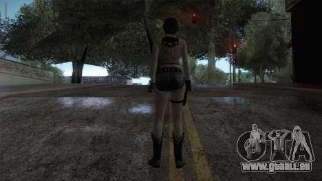Resident Evil HD - Rebecca Chambers Cowgirl pour GTA San Andreas troisième écran