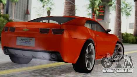 NFS Carbon Chevrolet Camaro IVF pour GTA San Andreas laissé vue