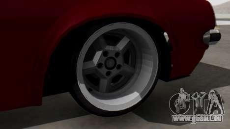 Opel Manta B1 pour GTA San Andreas sur la vue arrière gauche