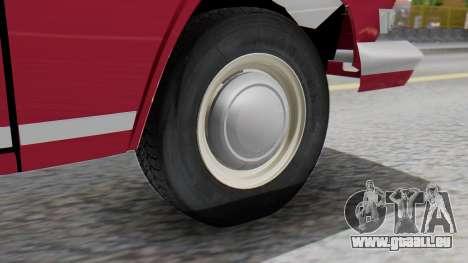 GAZ 21 Volga v3 pour GTA San Andreas sur la vue arrière gauche
