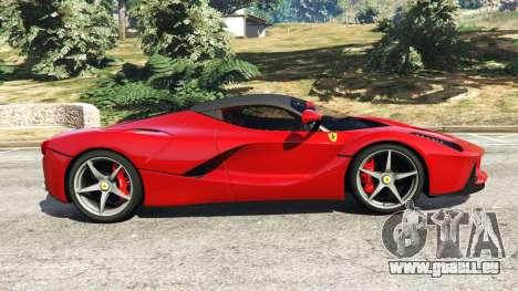 GTA 5 Ferrari LaFerrari 2015 v0.5 vue latérale gauche