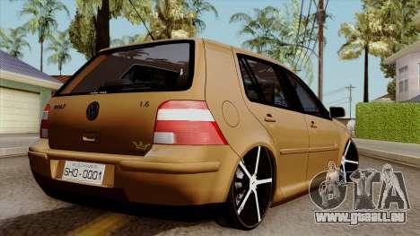 Volkswagen Golf 2004 Edit pour GTA San Andreas laissé vue