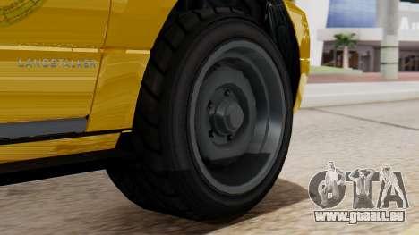 Landstalker Taxi SR 4 Style Flatshadow pour GTA San Andreas sur la vue arrière gauche