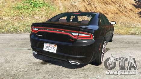 GTA 5 Dodge Charger RT 2015 v0.5 hinten links Seitenansicht