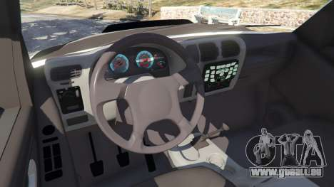 GTA 5 Chevrolet Blazer Sao Paulo State Police arrière droit vue de côté