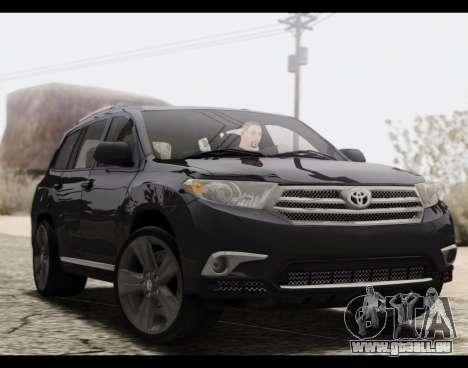 Toyota Highlander 2011 für GTA San Andreas