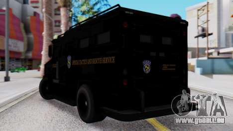 GTA 5 Enforcer Raccoon City Police Type 2 für GTA San Andreas linke Ansicht