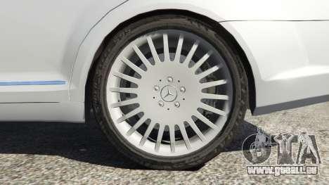 GTA 5 Mercedes-Benz S500 W221 v0.3 [Alpha] arrière droit vue de côté