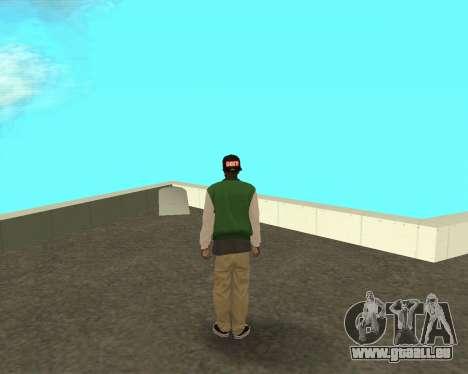 Le petit nouveau sur le bloc de grove Street pour GTA San Andreas deuxième écran