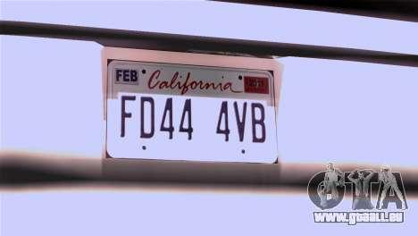 CA & NV License Plates für GTA San Andreas zweiten Screenshot