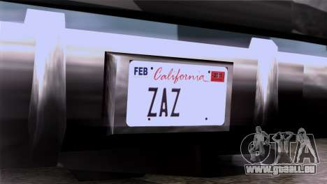 CA & NV License Plates für GTA San Andreas dritten Screenshot