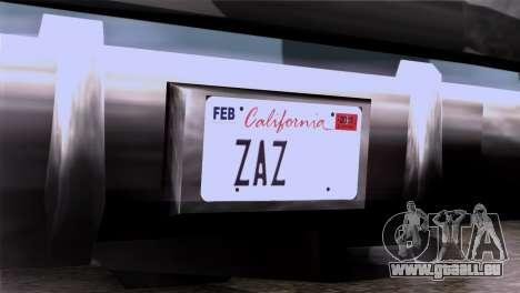 CA & NV License Plates für GTA San Andreas dritten Screenshot