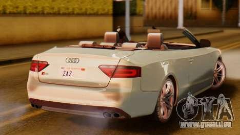 Audi S5 2010 Cabriolet für GTA San Andreas linke Ansicht