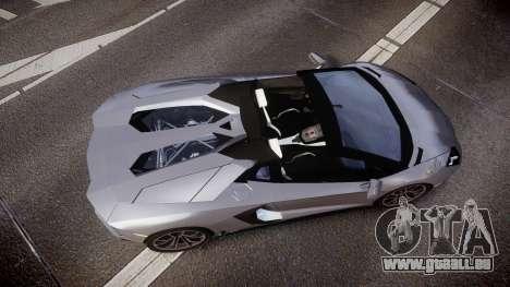 Lamborghini Aventador Roadster pour GTA 4 est un droit