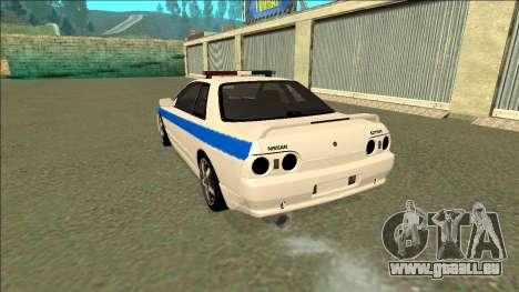Nissan Skyline R32 Russian Police für GTA San Andreas Unteransicht