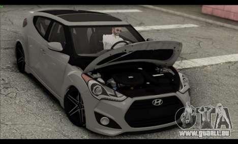 Hyundai Veloster 2012 für GTA San Andreas Unteransicht