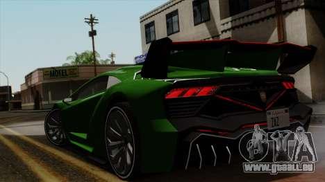 Pegassi Zentorno Veneno pour GTA San Andreas sur la vue arrière gauche