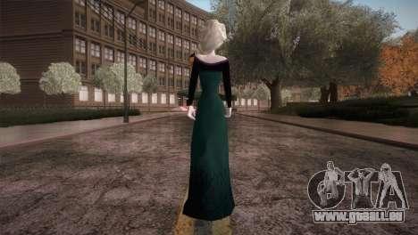 Elsa Frozen HQ Dress pour GTA San Andreas troisième écran