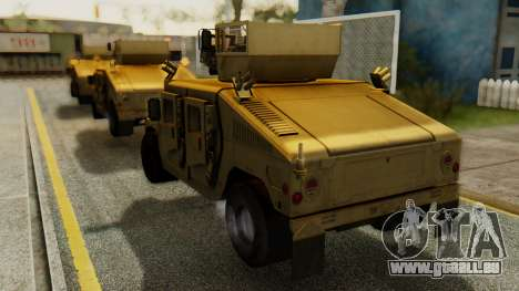 PR BF2 US Army UpArmored Humvee Armed with MK19 pour GTA San Andreas laissé vue