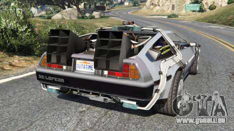 GTA 5 DeLorean DMC-12 Back To The Future v0.2 arrière vue latérale gauche