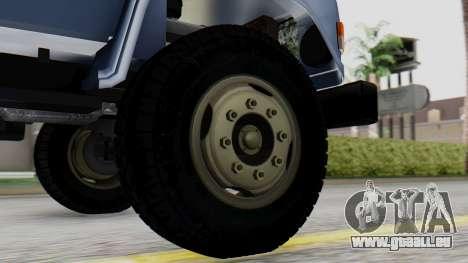 DAC 6135 Facelift pour GTA San Andreas sur la vue arrière gauche