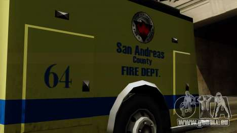 SAFD SAX Airport Engine pour GTA San Andreas vue de droite