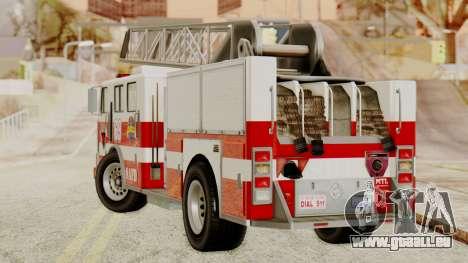 SAFD Fire Lader Truck für GTA San Andreas linke Ansicht
