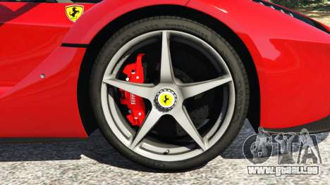 GTA 5 Ferrari LaFerrari 2015 v0.5 arrière droit vue de côté