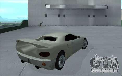 GTA 3 Infernus SA Style pour GTA San Andreas laissé vue
