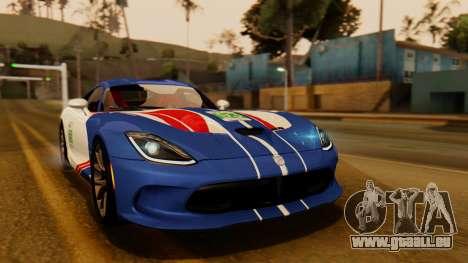 Dodge Viper SRT GTS 2013 IVF (HQ PJ) No Dirt pour GTA San Andreas vue intérieure